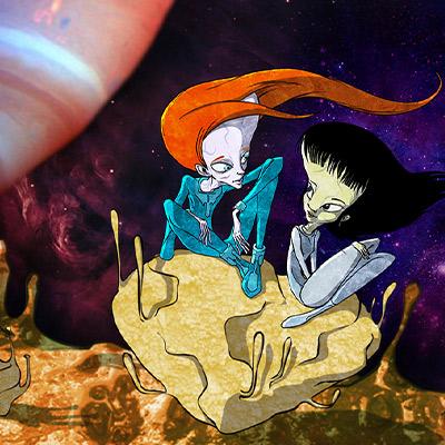 איור דמויות בחלל